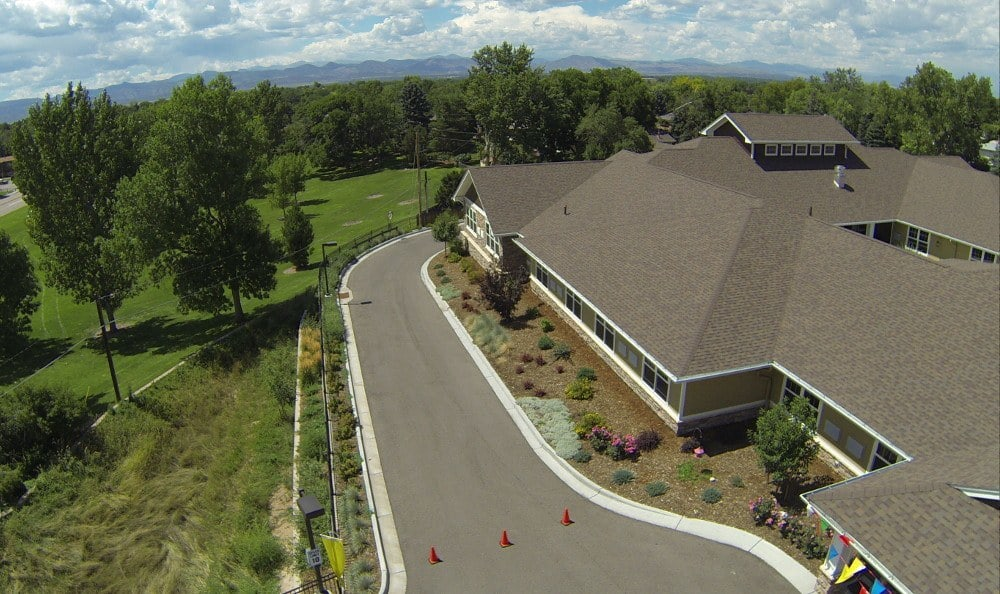Aerial view of our Littleton senior living facility