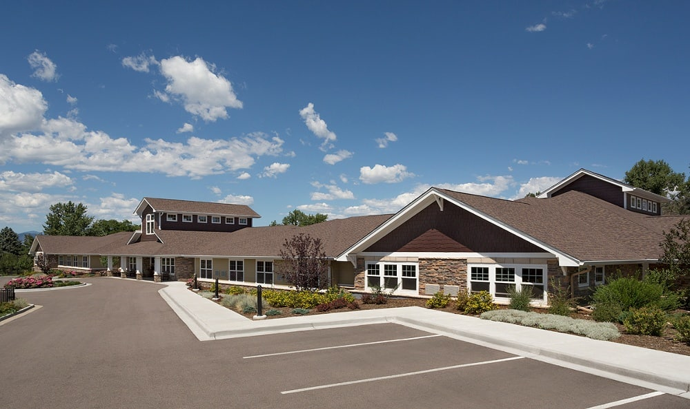 Entrance to our senior living facility in Littleton
