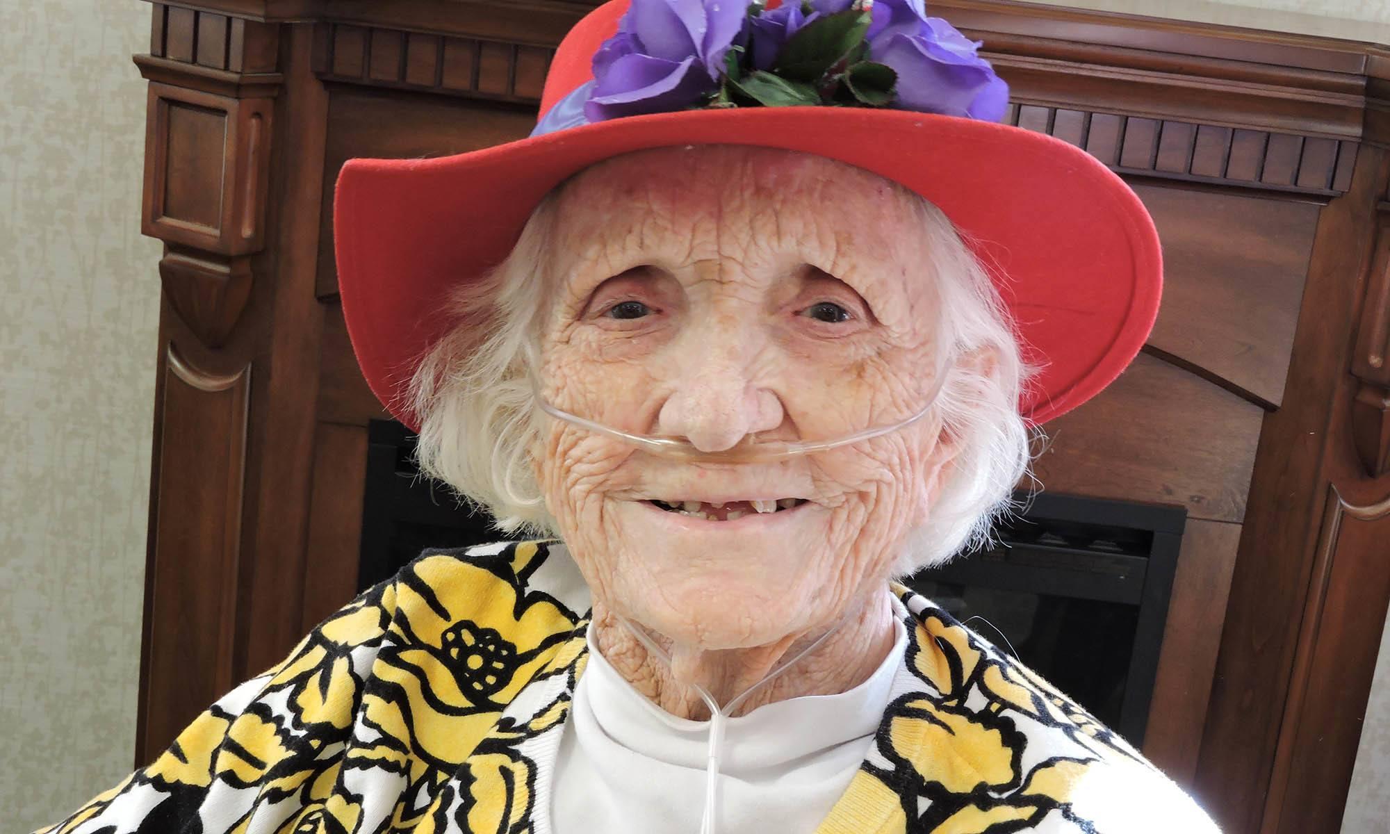 Woman at senior living in CA