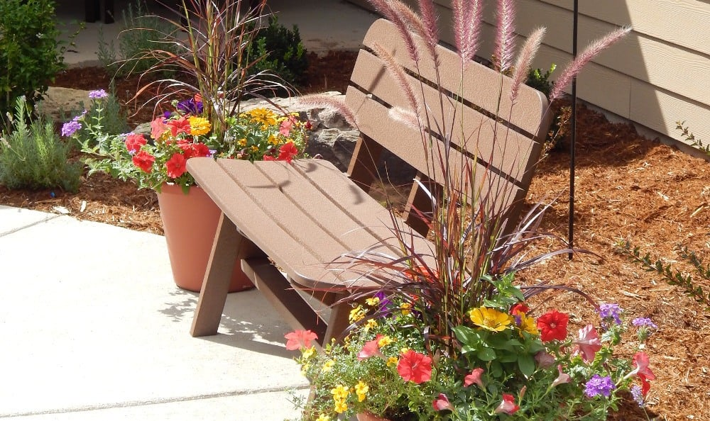 Garden at our senior care facility in Littleton