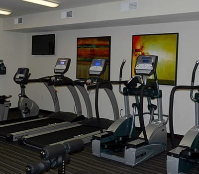Fitness center at Clearview 100 Apartment Homes