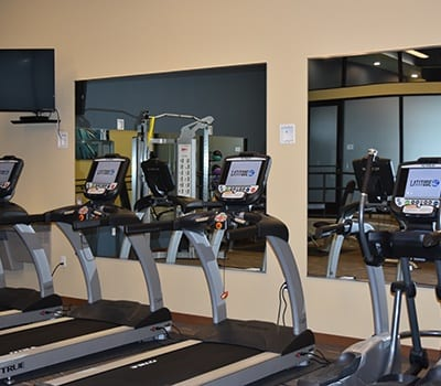 Fitness center at Latitude 47 Apartment Homes