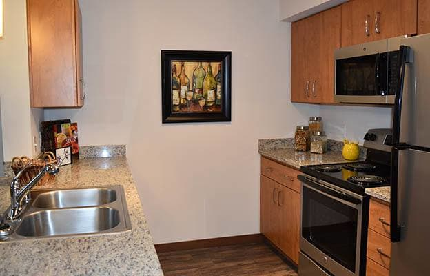 New kitchen appliances at Latitude 47 Apartment Homes