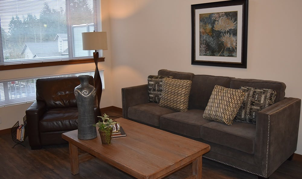 Living Room At Apartments In University Place Washington