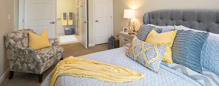 Bedroom at Mill Hill Residence in West Yarmouth, MA
