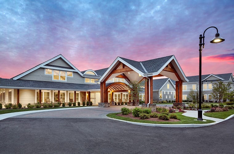 Gorgeous sunset views at Maplewood Senior Living communities.