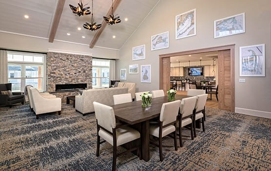Private dining areas abound at Maplewood Senior Living communities for those who prefer more privacy than our expansive dining rooms allow.