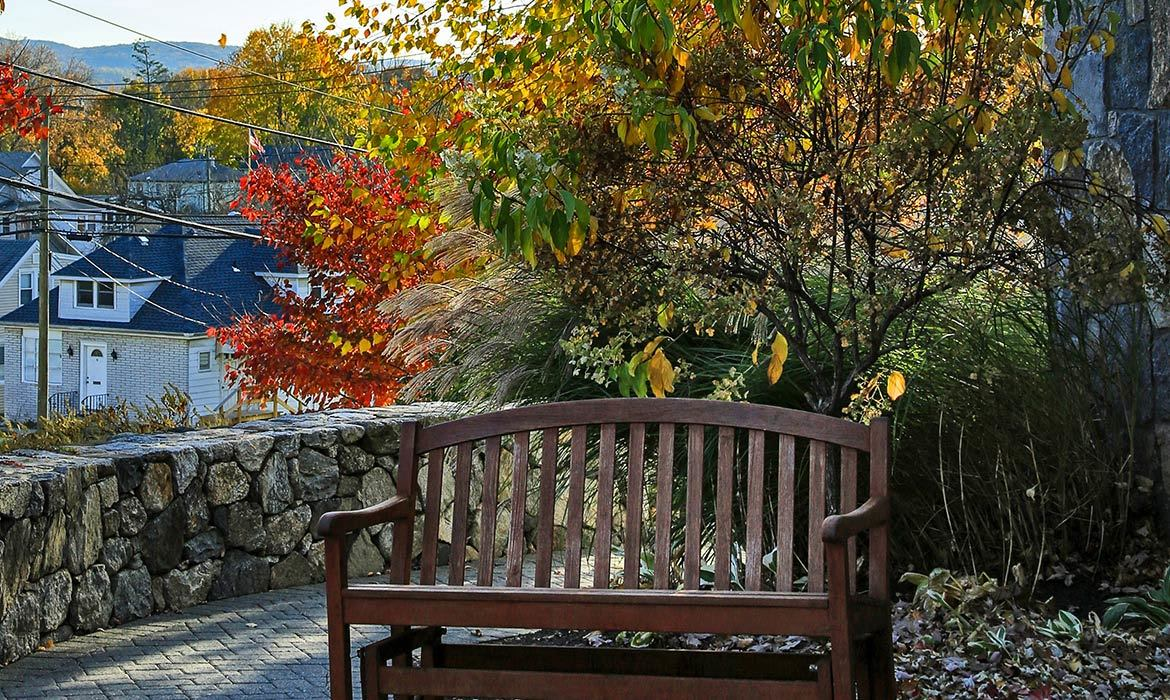 There are beautiful and peaceful spots to relax - inside and out - here at Maplewood at Danbury.