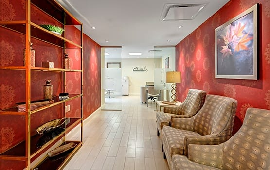Pamper yourself at our on-site Salon and Spa at Maplewood at Newtown.