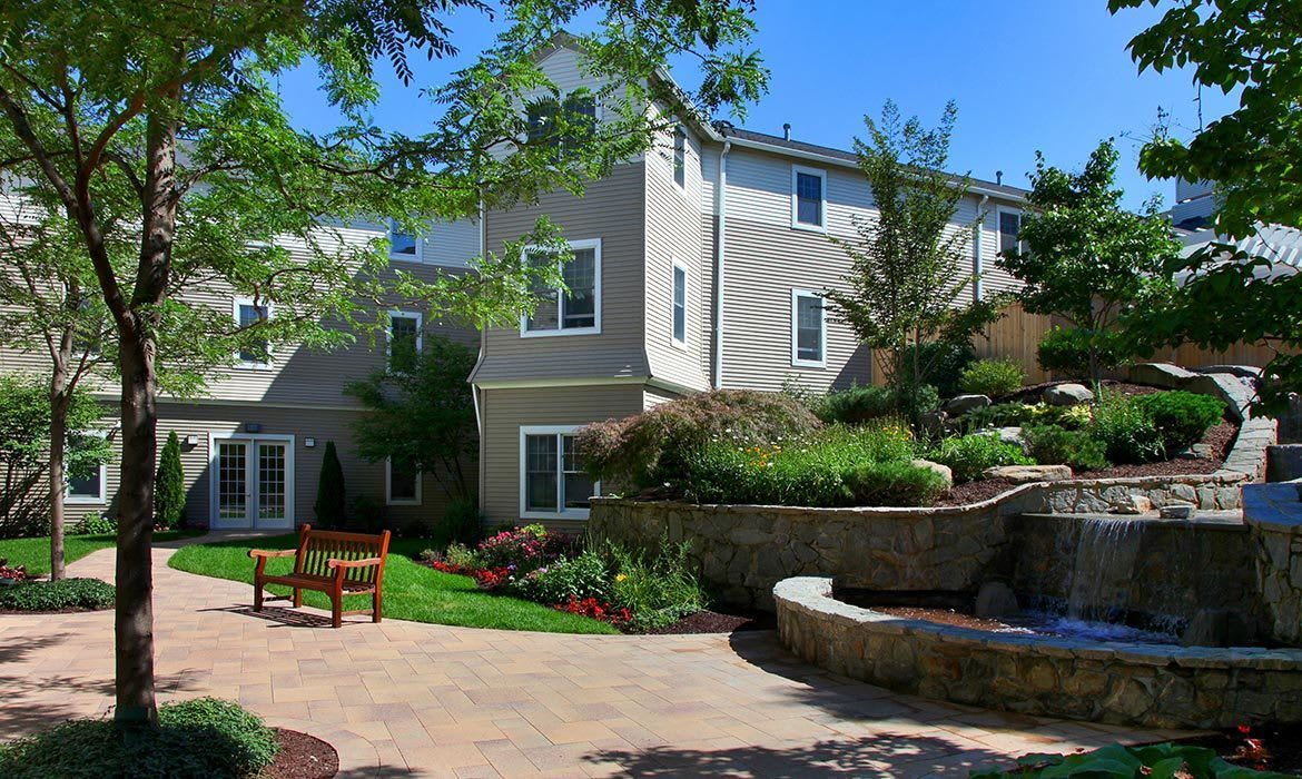 There are many comfortable common areas to socialize or just relax in at Maplewood at Orange - inside and outside.