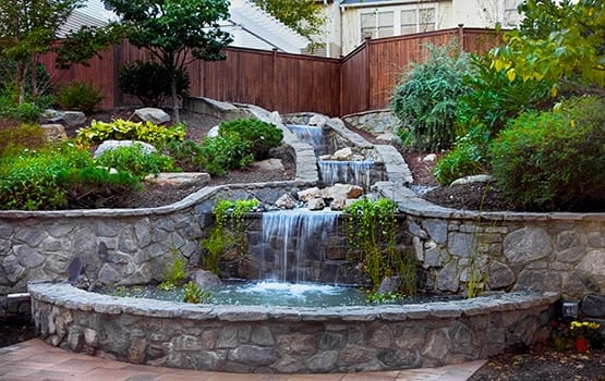 The waterfall area at Maplewood at Orange is a terrific place to relax and just enjoy the view.