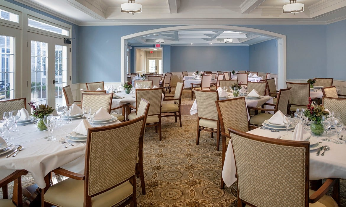 Dining at Maplewood at Strawberry Hill in East Norwalk is simply not to be missed!