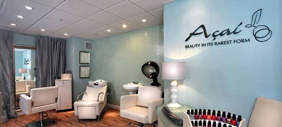 Happy Maplewood at Strawberry Hill couple enjoying their new look, courtesy of our on-site Salon, Açai.