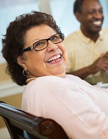 Our assisted living residents at Maplewood at Darien can get as much help as they desire; call us to learn more.