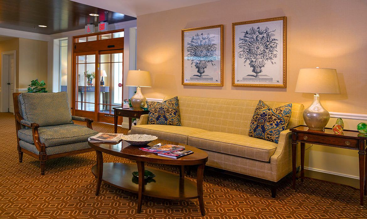 It's not difficult to find a comfortable spot to socialize or simply relax at Maplewood at Darien.