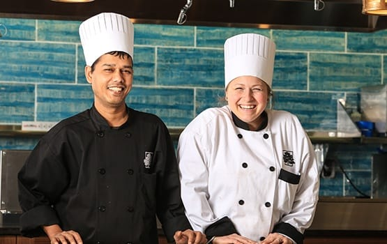 The kitchen staff at Maplewood at Stony Hill concoct the most amazing meals!