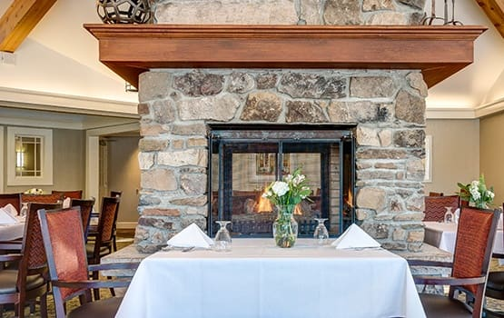 Maplewood at Chardon in Chardon, OH has fireside dining.