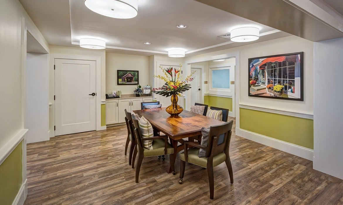 Our open-display dining areas are truly top-shelf here at Maplewood at Weston in Weston.