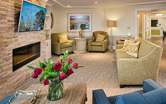 When the weather turns cold, there's nothing like a cozy spot in front of the fireplace at Maplewood at Weston.