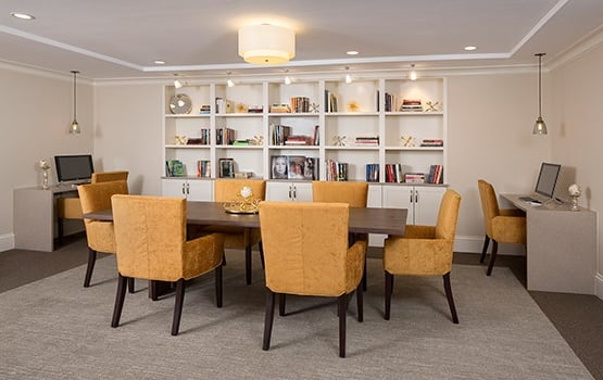 There are plenty of great books to get lost in at Maplewood at Weston's library.