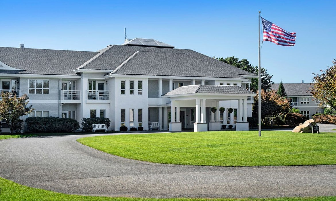 The architecture at Maplewood at Mayflower Place is quintessential West Yarmouth.
