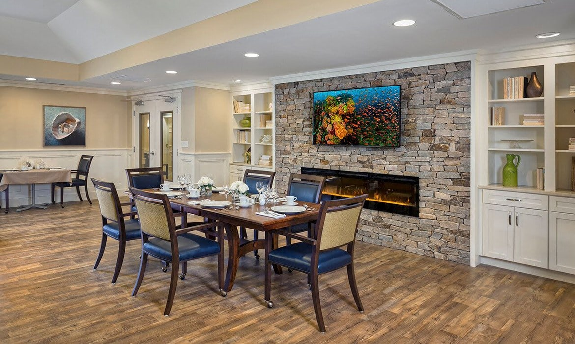 Grand ceilings and archways abound at Maplewood at Mayflower Place in West Yarmouth, MA.