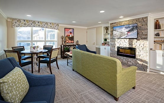There's no shortage of cozy places to curl up with a good book here at Maplewood at Mayflower Place.