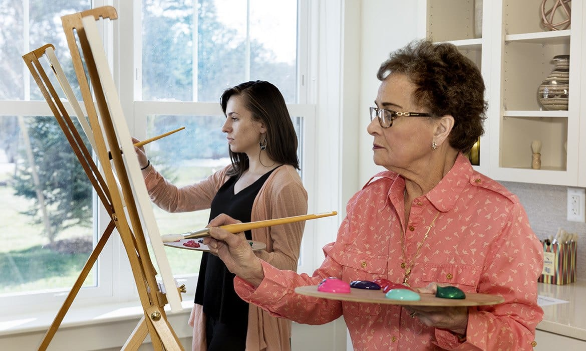 Learn a new hobby at Maplewood at Brewster; there are plenty of options, and tutors to help you master your craft.