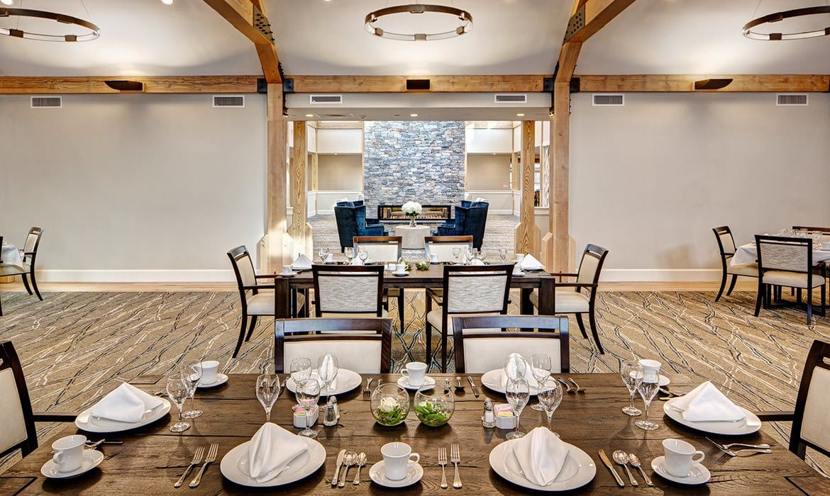 You can dine in the expansive, lavish dining room at Maplewood at Brewster - or for special events we have exquisite private dining areas as well