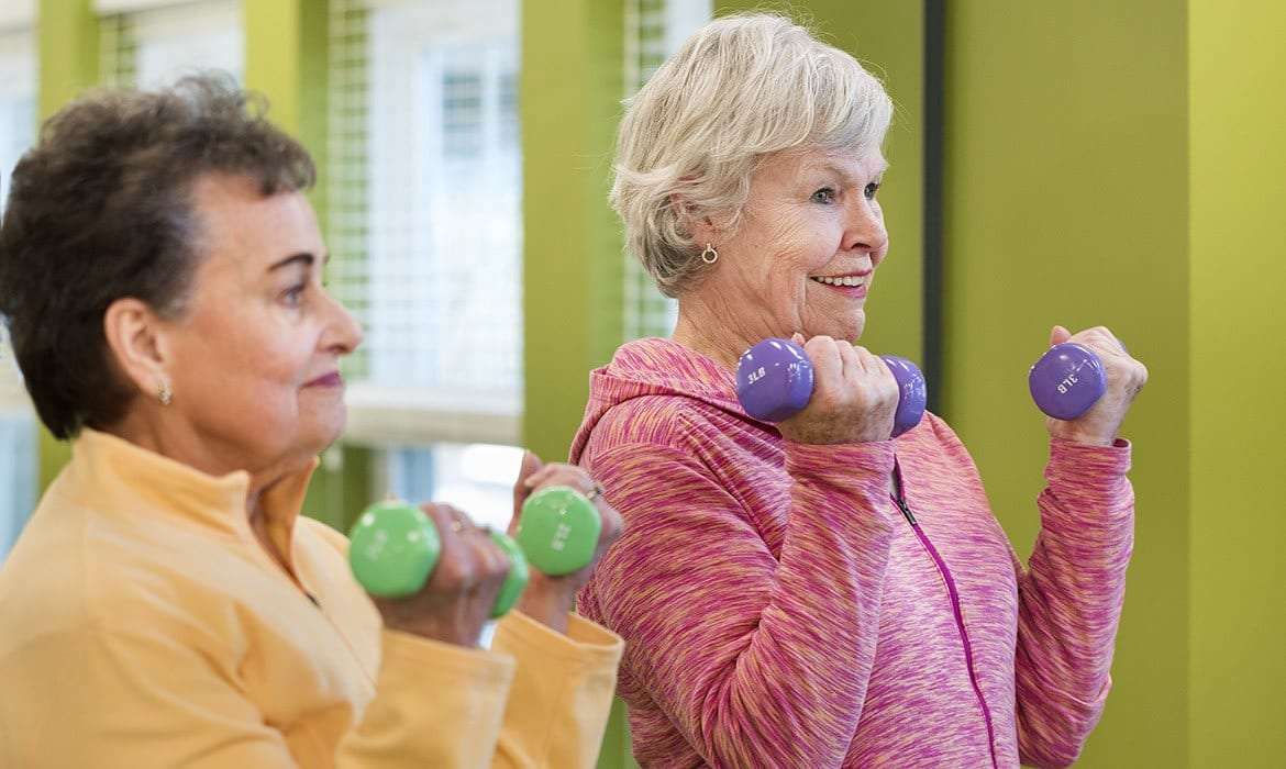 The fitness center at Maplewood at Brewster is fully equipped to meet everyone's needs.