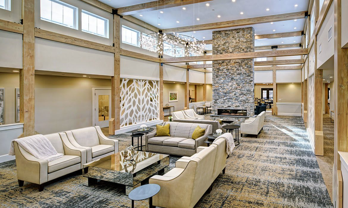 Many comfortable common areas to socialize or just relax in at Maplewood at Brewster