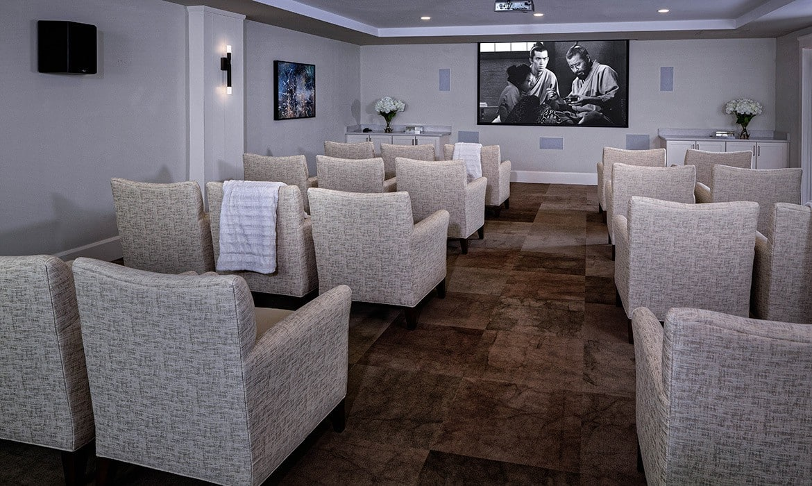 Movie buffs won't be disappointed at Maplewood at Brewster; we have our own theater!