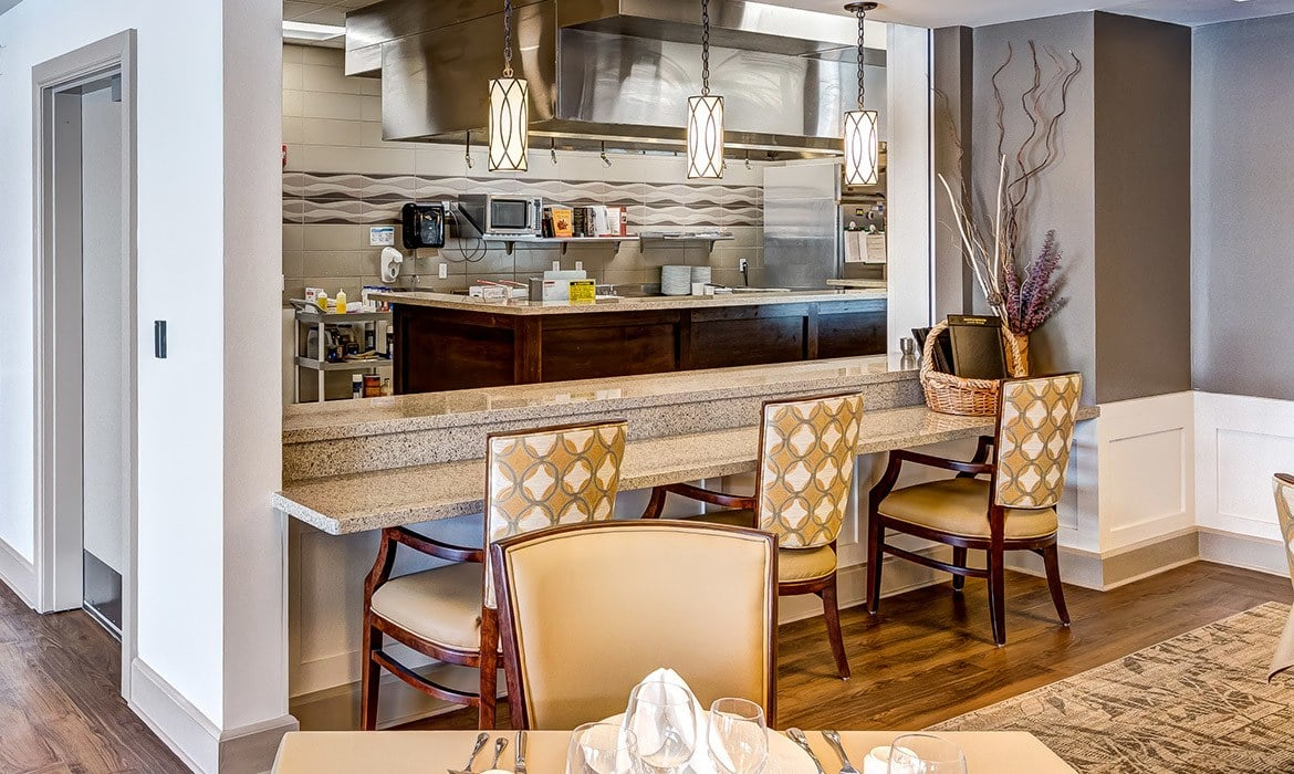 Our open-display kitchens and friendly staff help to make dining at Maplewood at Cuyahoga Falls a true pleasure.