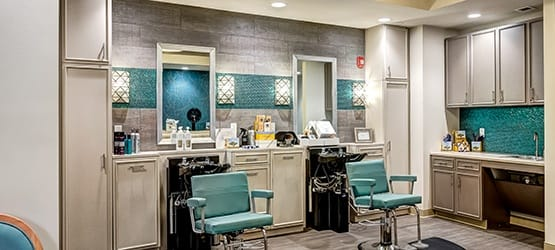 Get pampered at our on-site salon & spa, Açai.