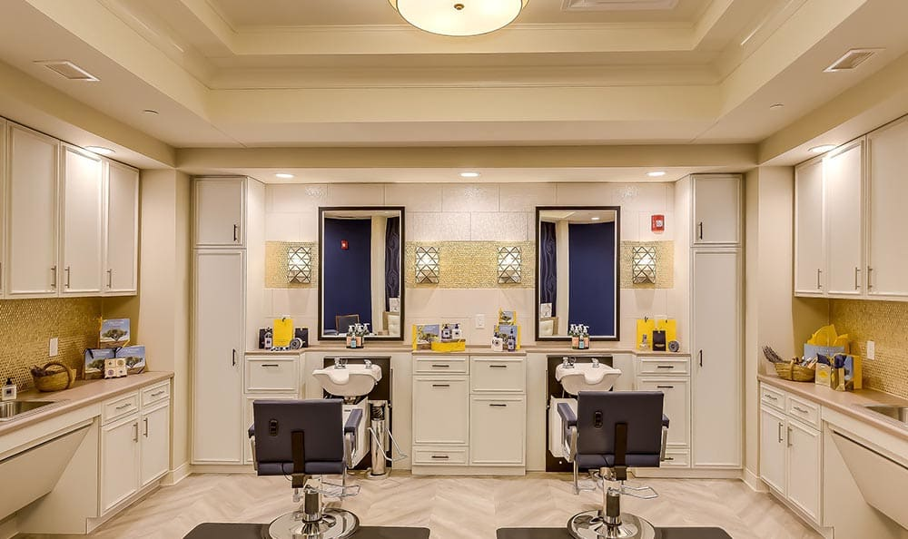 Spacious salon at Maplewood at Twinsburg in Twinsburg, OH