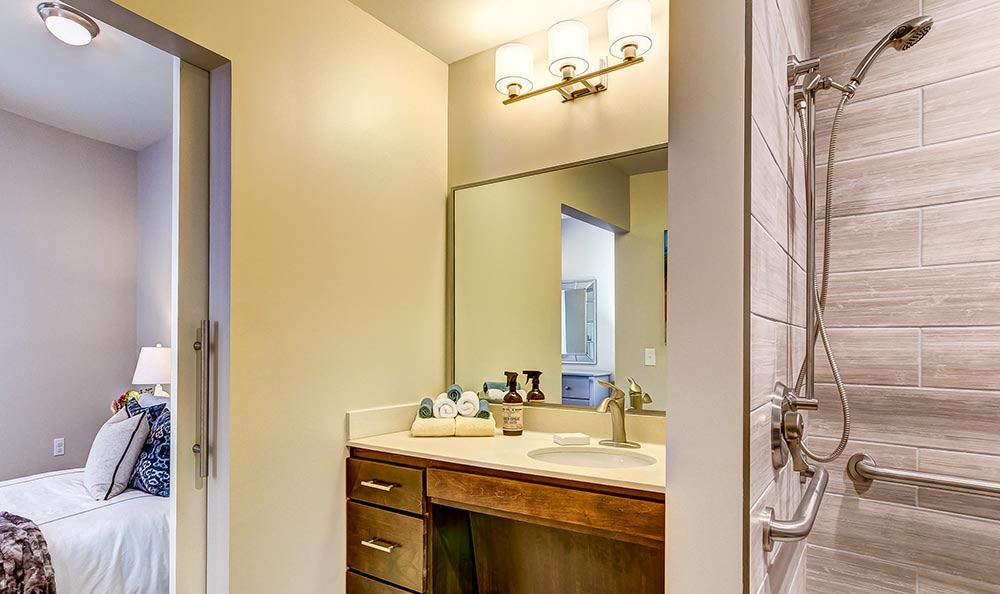Bathroom at Maplewood at Twinsburg in Twinsburg, OH