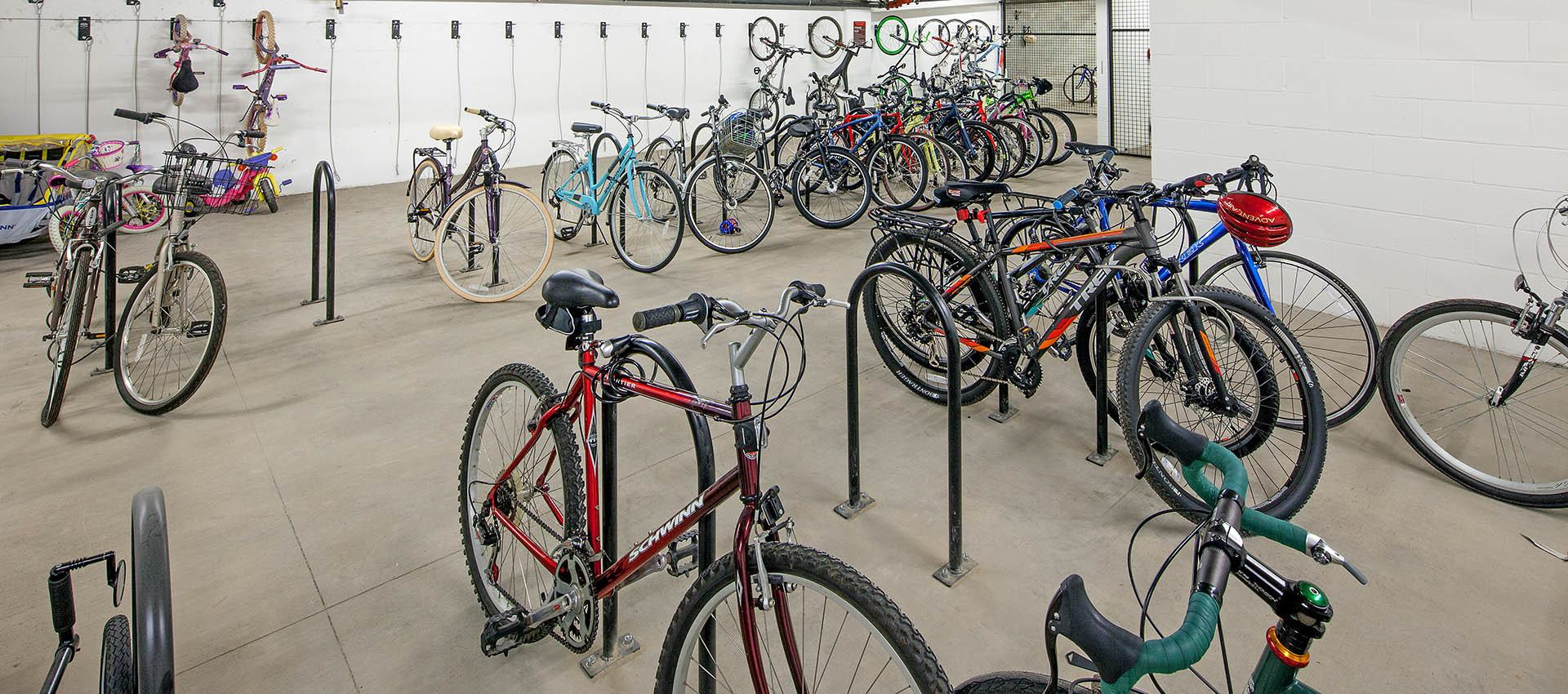 Bike Storage and Repair Shop at Eddyline at Bridgeport in Portland, Oregon
