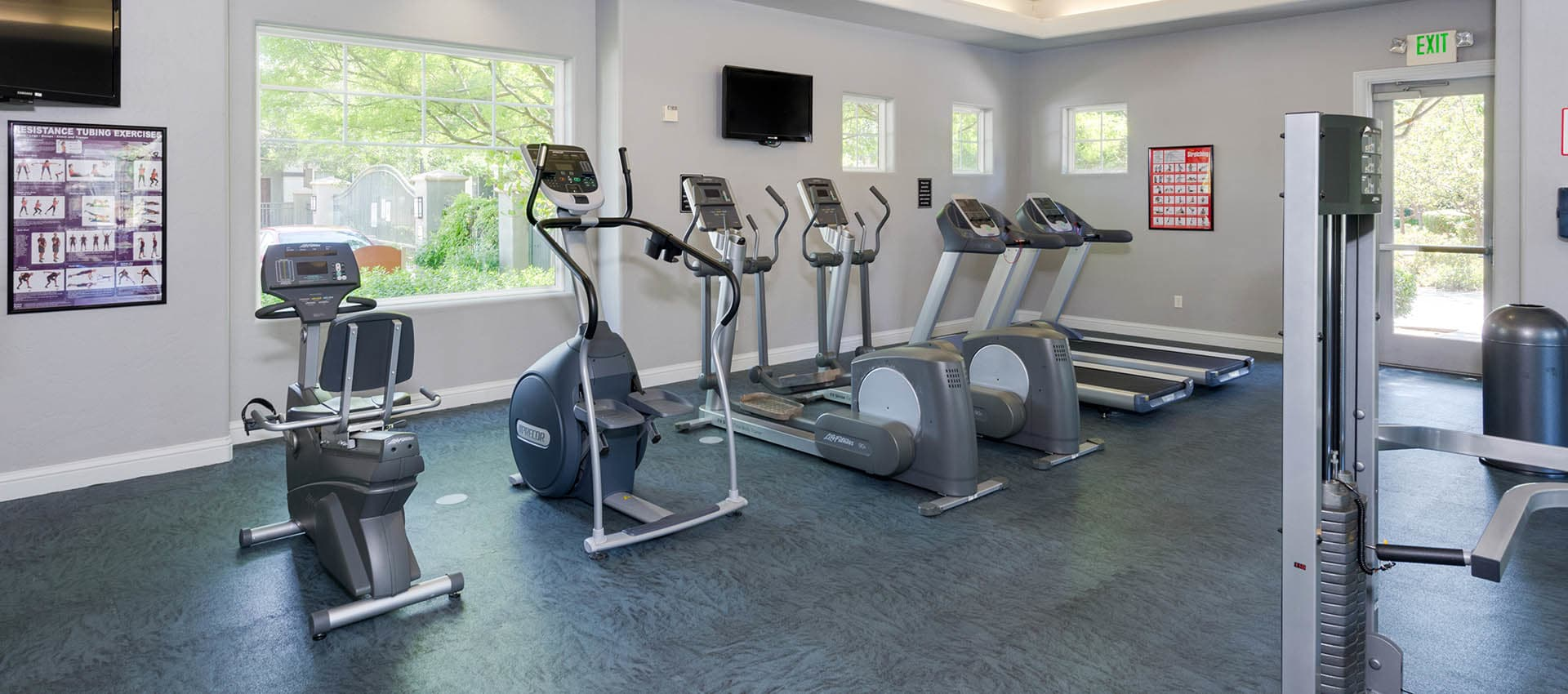24-Hour Fitness Center at The Artisan Apartment Homes in Sacramento, California