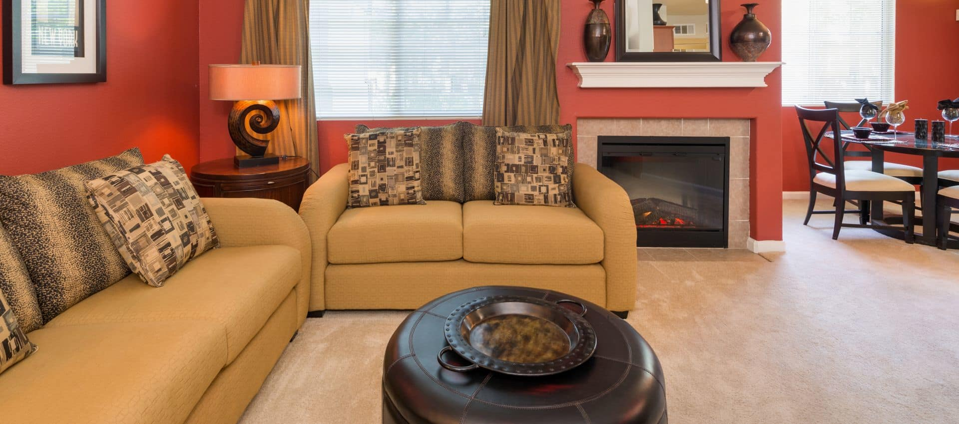 The Artisan Apartment Homes's Well Decorated Living Room in Sacramento, CA