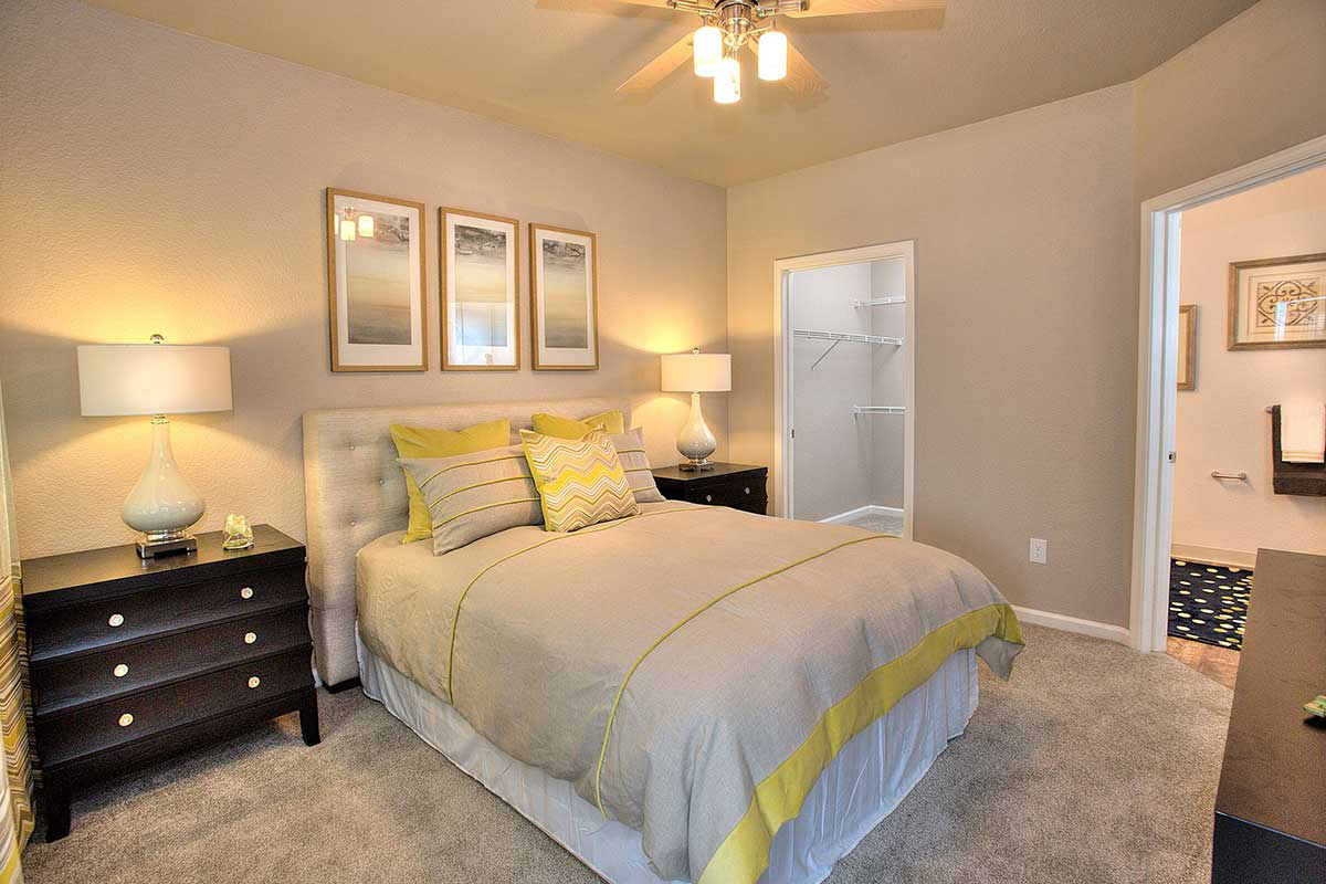 Master bedroom at Centro Apartment Homes
