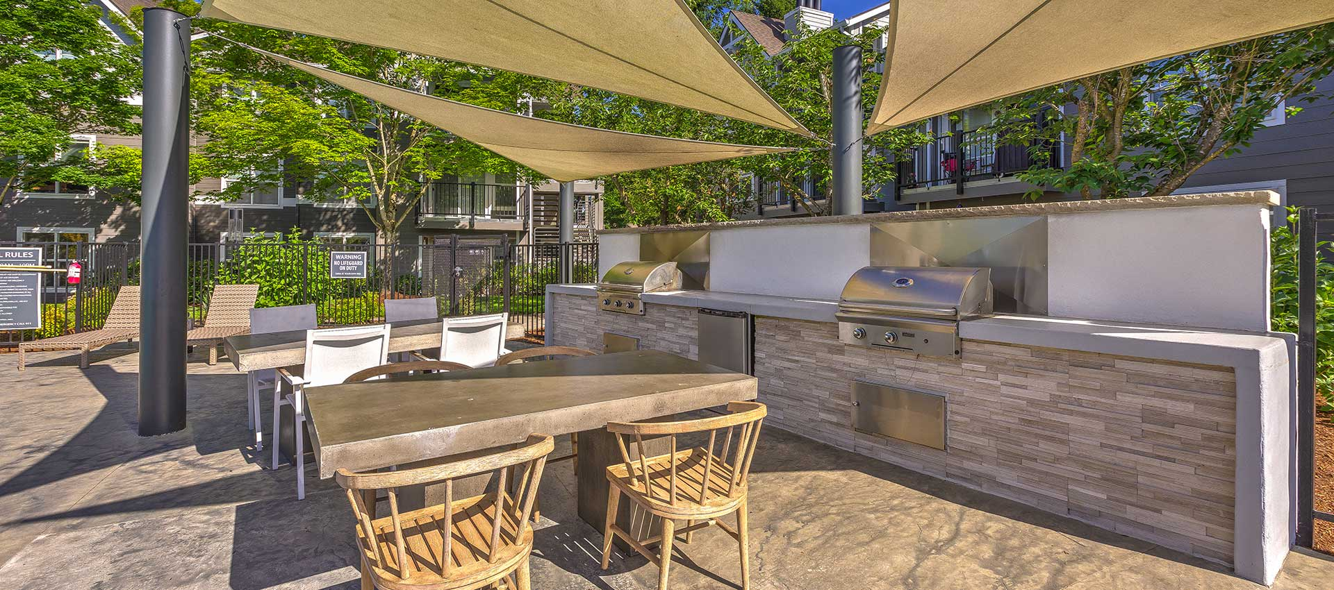 BBQ cabana at Centro Apartment Homes