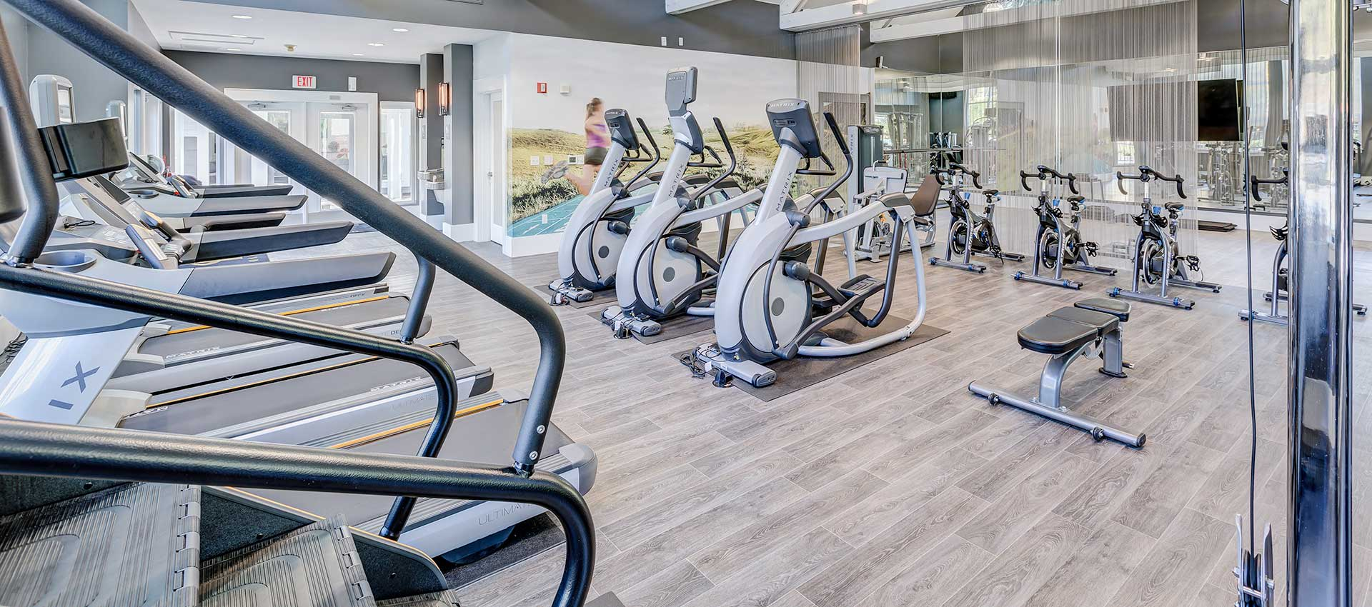 Fitness center at Centro Apartment Homes