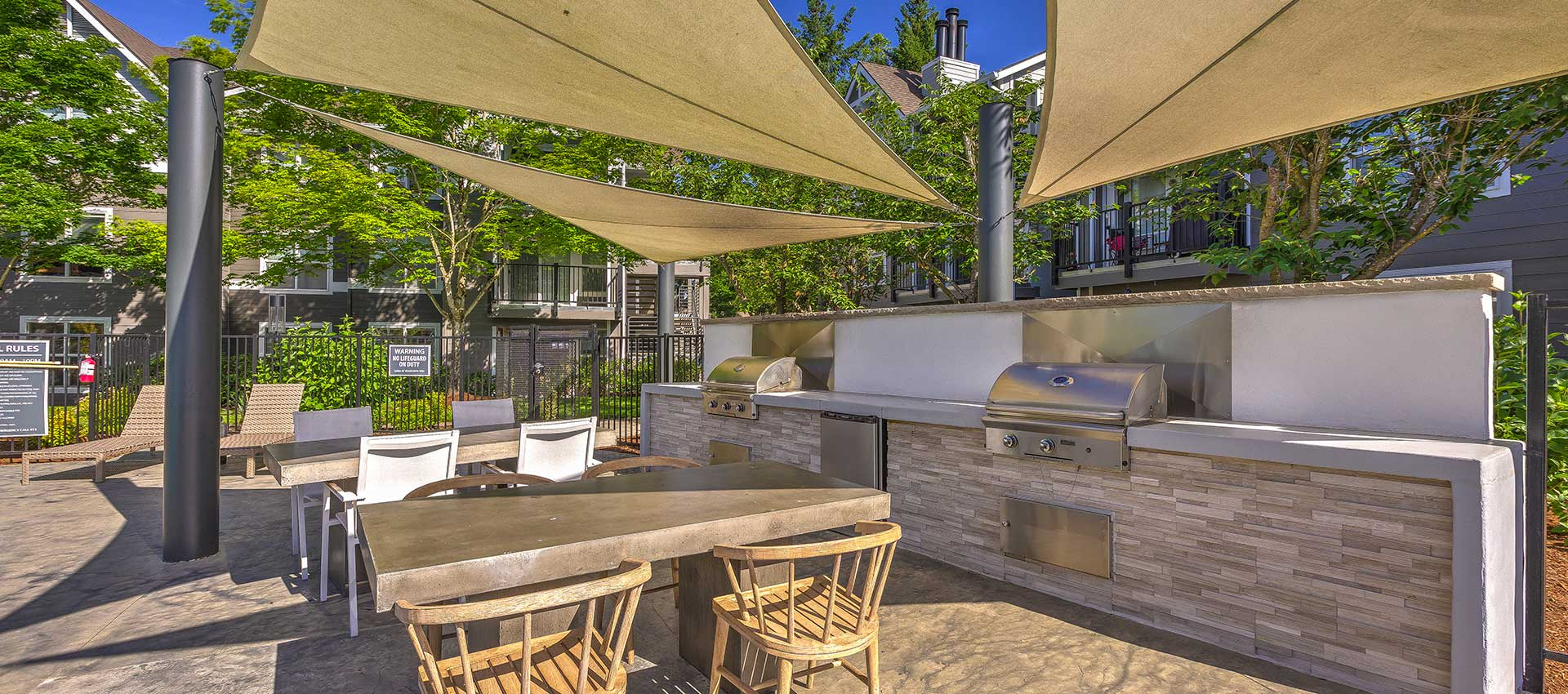 Outdoor kitchen at Centro Apartment Homes