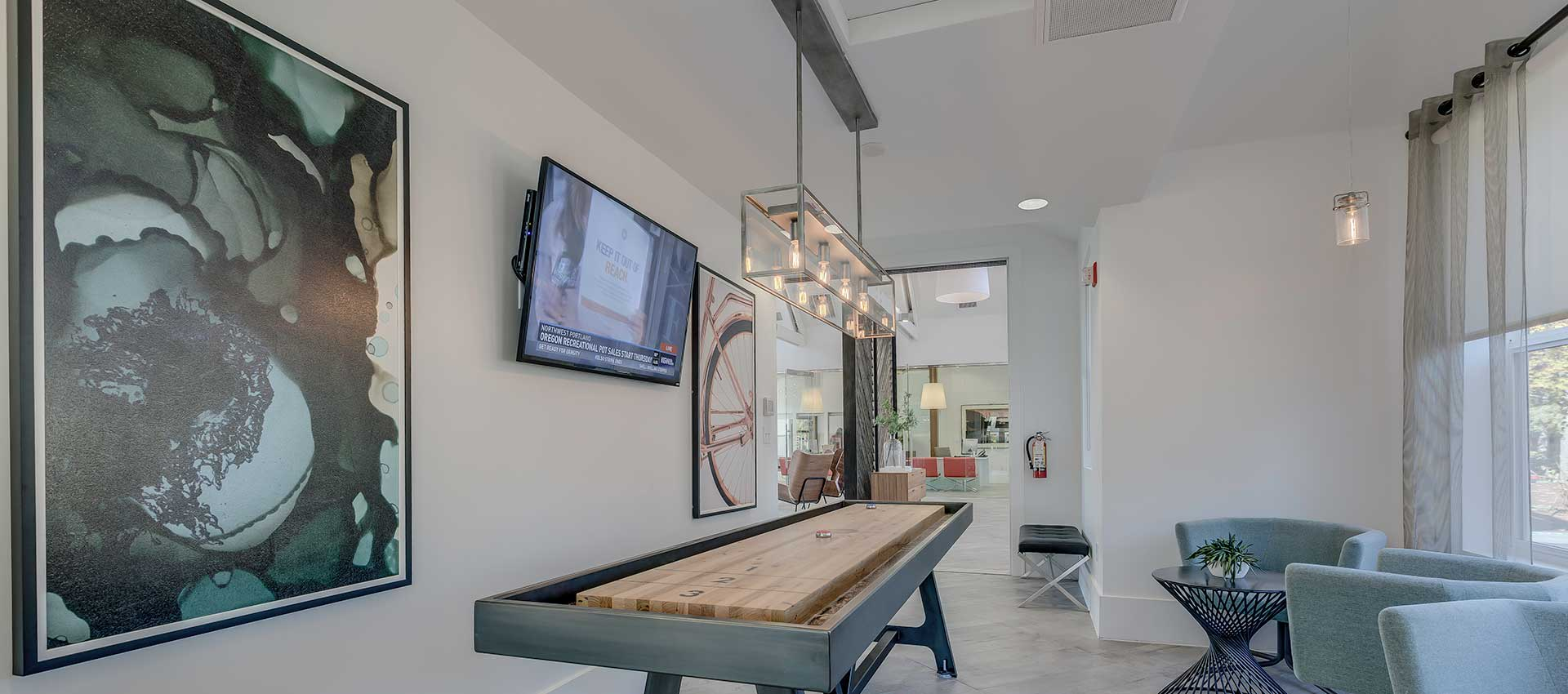 Shuffleboard at Centro Apartment Homes