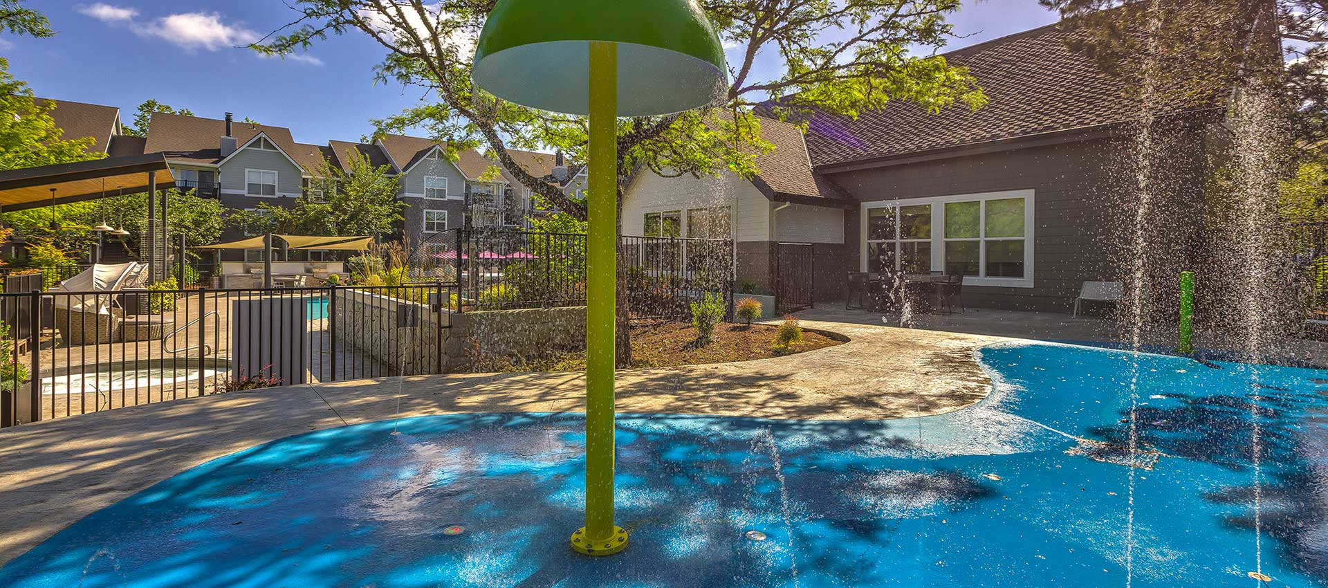 Splash park at Centro Apartment Homes