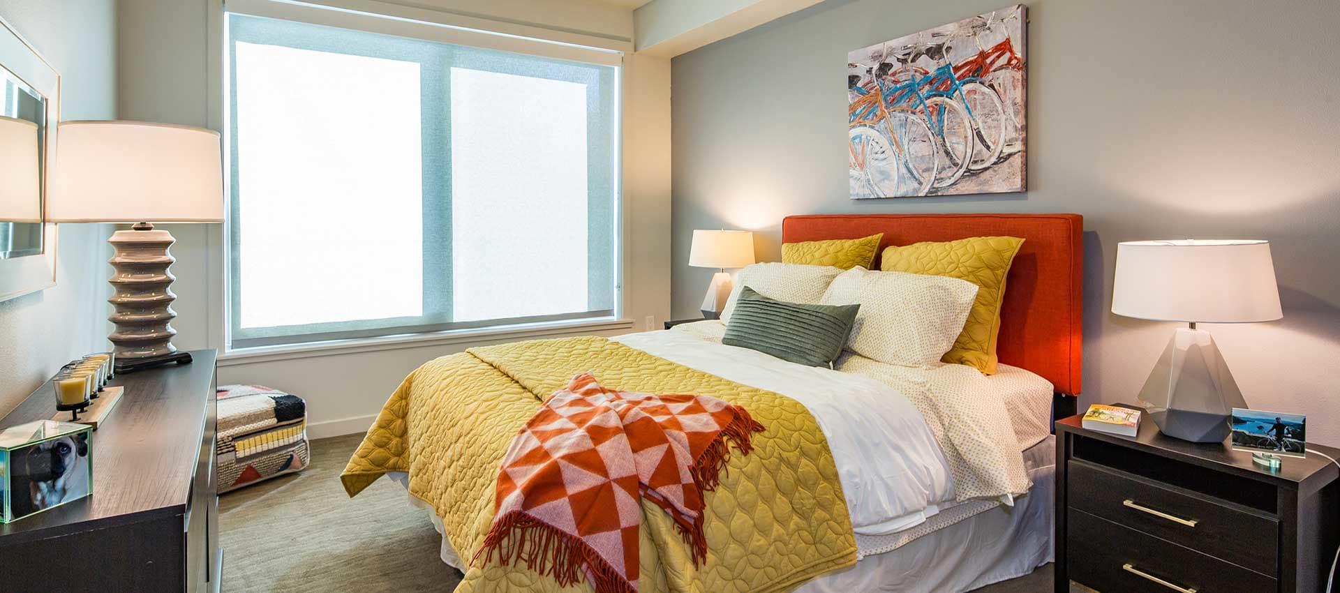 Bedroom at EVIVA Midtown in Sacramento, California