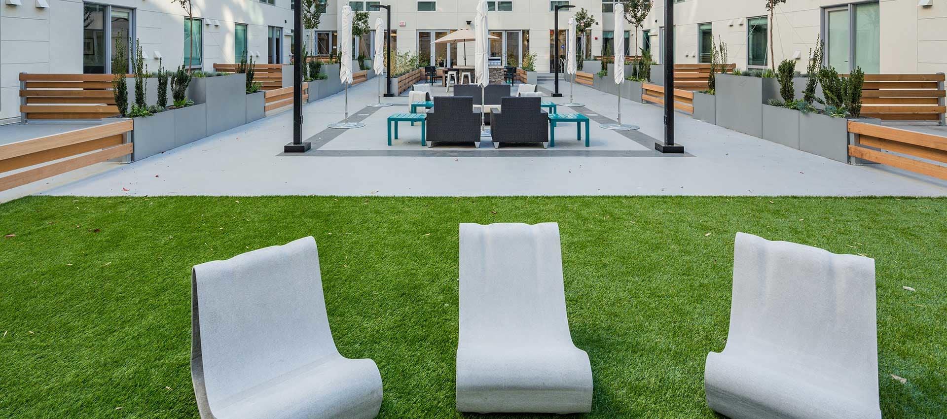 EVIVA Midtown courtyard in Sacramento, California