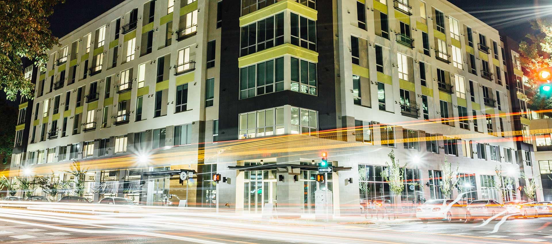 EVIVA Midtown at night in Sacramento, California