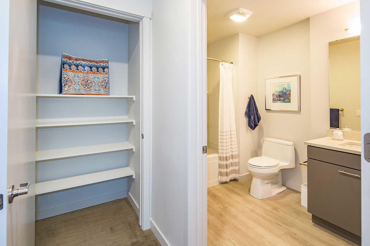 Linen closet at EVIVA Midtown