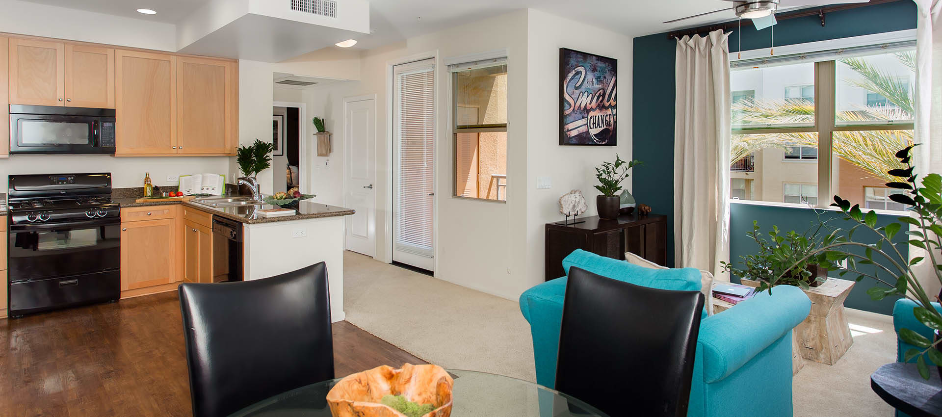 Open floor plans at Paragon at Old Town in Monrovia